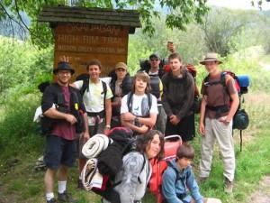 Trail Head of High Rim Trail at the Kalamalka Lake Provincial Park end.