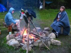 Campin at Damer Lake