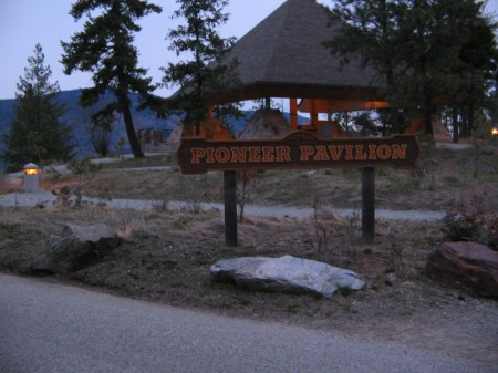 Pioneer Pavillion at the top of Knox Mountain