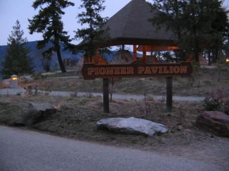 Pioneer Pavilion on Knox Mountain.