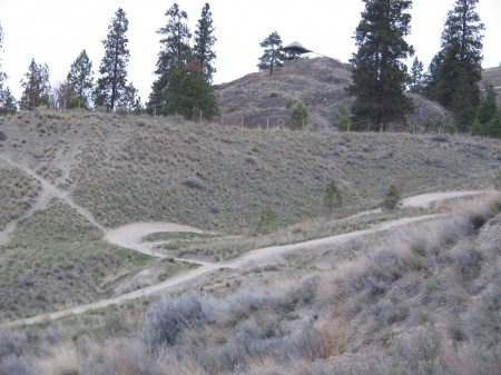The first stage of getting to the top of Knox Mountain.
