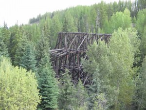 Lorna Trestle on the Kettle Valley Railway - KVR
