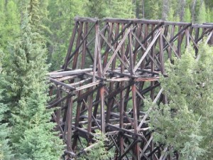 Old but beautiful railway trestle - Lorna Trestle
