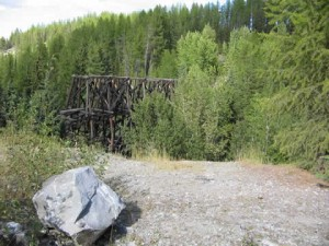 Lorna Trestle as seen from the Kettle Valley Railway