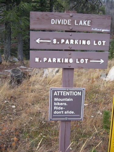 Divide Lake North Trail Sign
