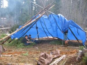 shelter set up