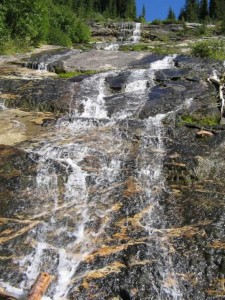 Water Falls along the hike to Pinnacle Lake in the Monashee`s
