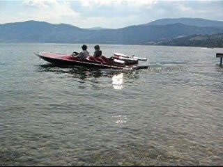 Speedboat on Peachland Beachfront