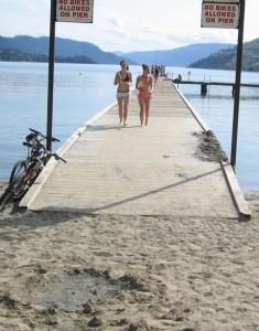 Kalamalka Lake Beach - Rotary Beach Pier