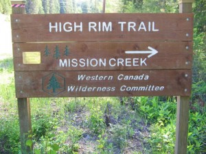 Mission Creek Trail Head