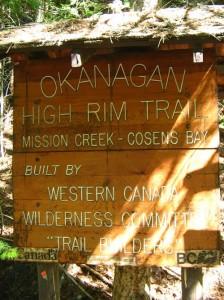 Mile Zero of High Rim Trail