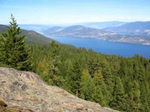 Blue Grouse Mountain view towards North Okanagan and Lake Country