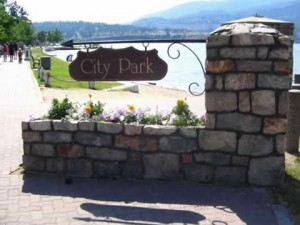 Hike through Kelowna City Park and Waterfront to enjoy Hotsands Beach and Tugboat beach.