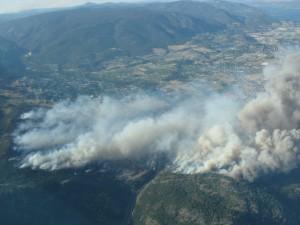 Glenrosa Forest Fire in July 2009
