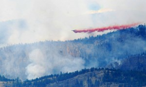 Rose Valley Fire on McDougall Rim Trail 2009