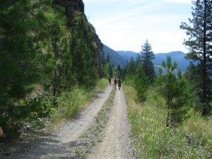 The Trans Canada Trail and section of the KVR on the Santa Rosa Trail