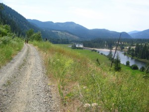 The KVR trestle is in sight as you head towards Grand Forks along the Santa Rosa to Cascade Gorge hiking trail.