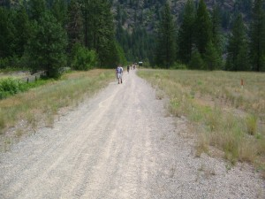 The Santa Rosa Hiking Trail after the trestle heading towards highway 395.