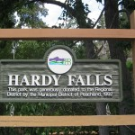 Hardy Falls Sign