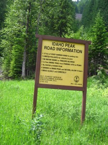 Idaho Peak Lookout Trail Head in Sandon BC