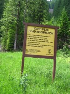 Idaho Peak Lookout Trail Head in Sandon BC