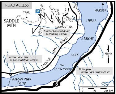 Saddle Mountain Lookout Map