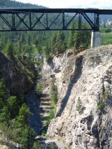 Trout Creek Trestle on the Kettle Valley Railway along the Trans Canada Trail