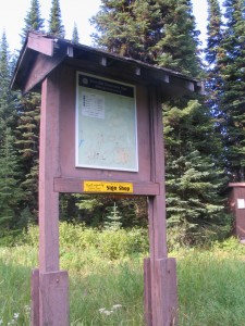 trail sign at the Armstrong Chalet