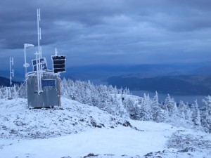 Click the photo to view the high resolution image. If you can stand the cold, the view is beautiful even in winter on Terrace Mountain.