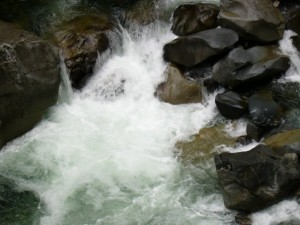 The roaring water