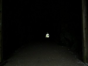 Light at the end of the tunnel. It's very dark
