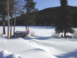 Boat Launch at west end of Osprey Lake