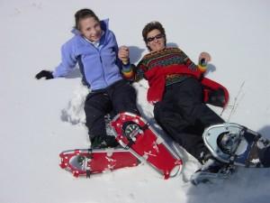 Snowshoeing on Osprey Lake