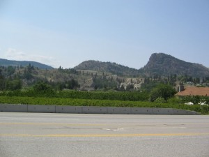 Giants Head Mountain as seen from Highway 97