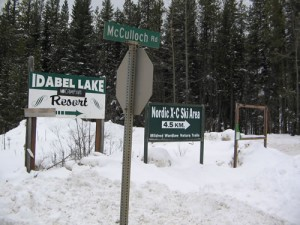 Okanagan Hiking at McCulloch Lake / Hydraulic Lake in British Columbia- the signs below are the signs to look for when you are driving down Highway 33 towards Rock Creek from Kelowna.