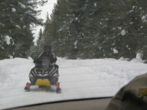 snowmobiling - share the road