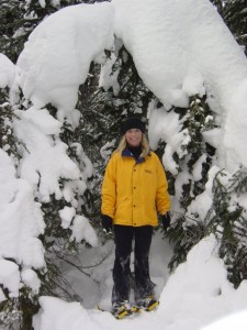 Snowshoeing Up Silver Star